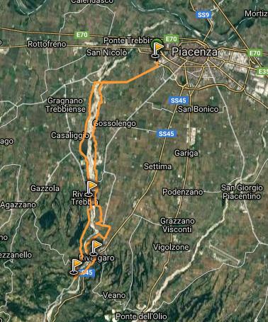 da Piacenza a Rivergaro