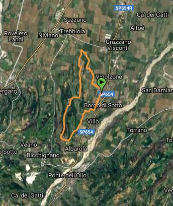 Via Franchigena tratto Piacenza