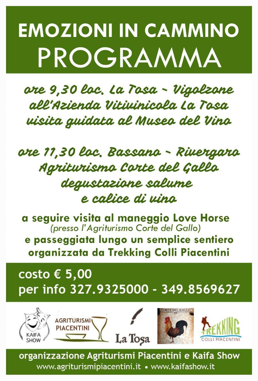 Emozioni in Cammino - escursione nel Piacentino