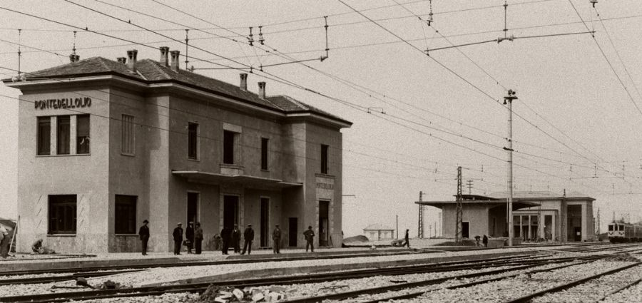la stazione di Pontedell'Olio in antica stampa